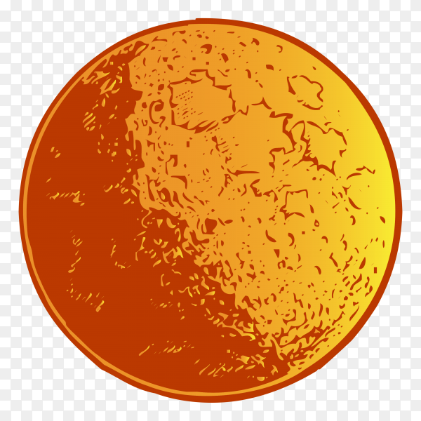 Hand drawn sun on transparent background PNG