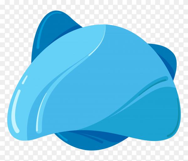 Illustration of blue banner shape on transparent background PNG