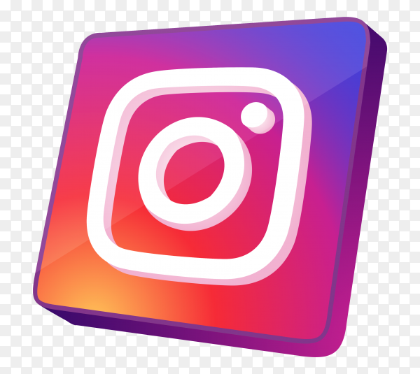 Instagram icon style on transparent bacground PNG