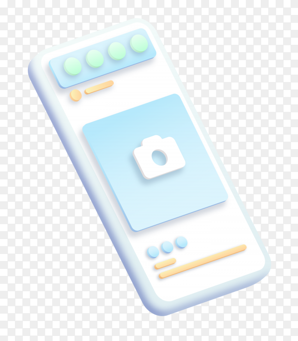 Instagram on smartphone on trasnparent background PNG