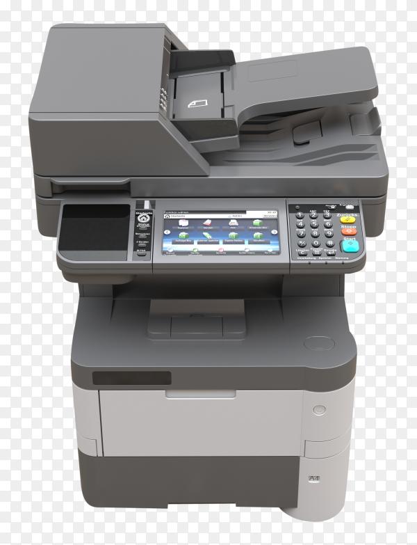 Laser printer on transparent background PNG