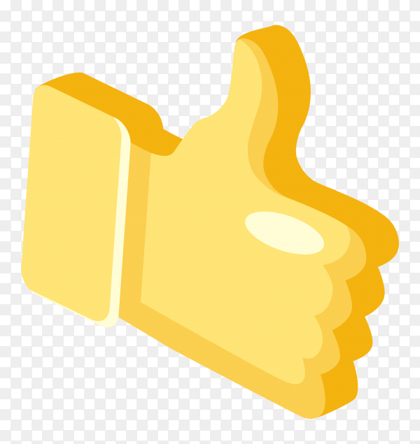 Like icon design on transparent background PNG