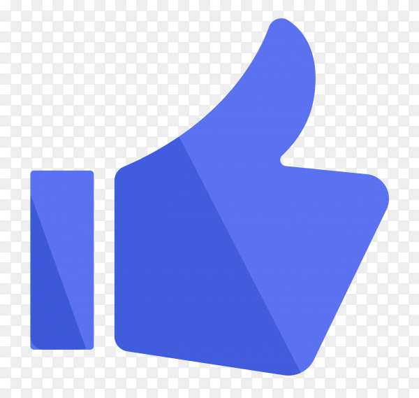Like icon in facebook on transparent background PNG