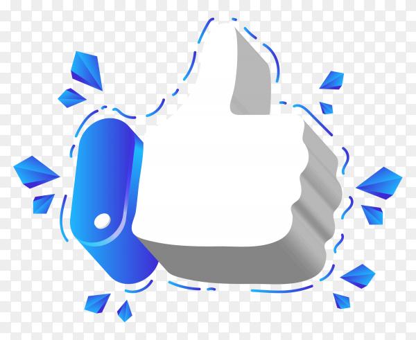 Like logo on transparent background PNG
