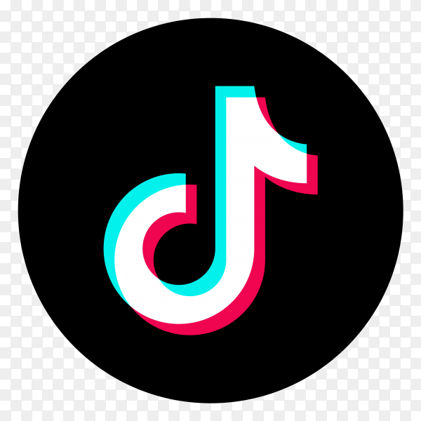Logo of the tiktok app clipart PNG