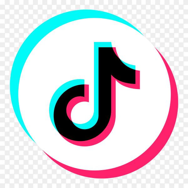 Logo of the tiktok app design on transparent background PNG