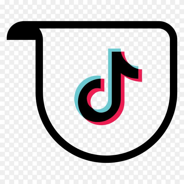 Logo of the tiktok app premium vector PNG