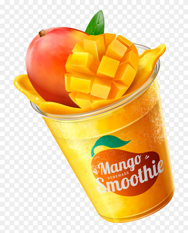 Mango smoothie on transparent background PNG
