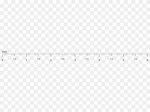 Measure tape ruler on transparent background PNG