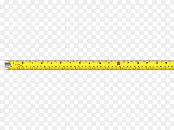Measuring tape on transparent background PNG