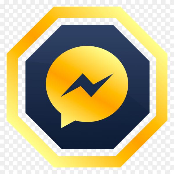 Messenger icon design premium vector PNG