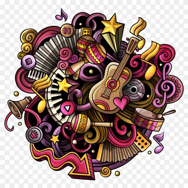 Music poster design on transparent background PNG