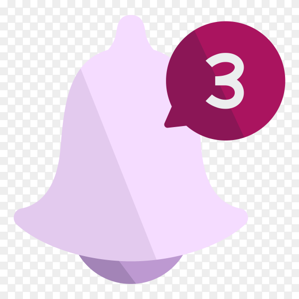 Notification bell icon on transparent background PNG