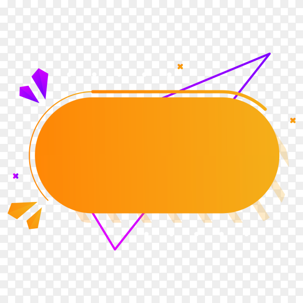 Orange abstract sale banner on transparent background PNG