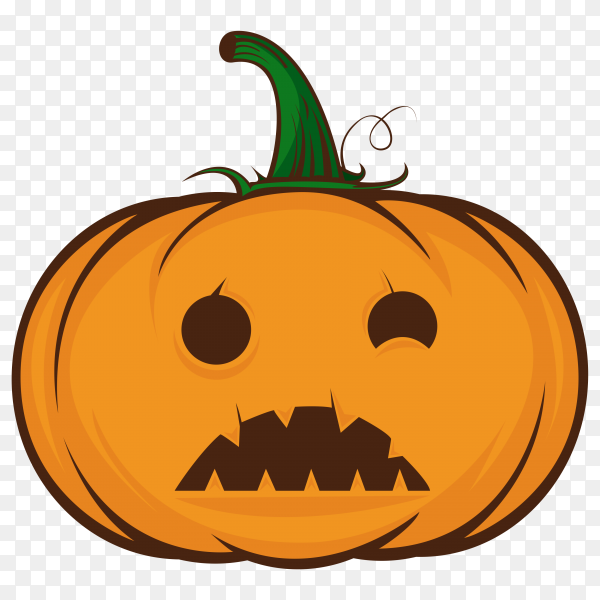 Orange pumpkin halloween on transparent background PNG