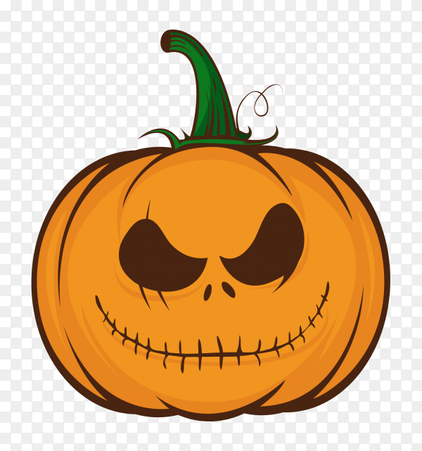 Orange pumpkins for halloween on transparent background PNG