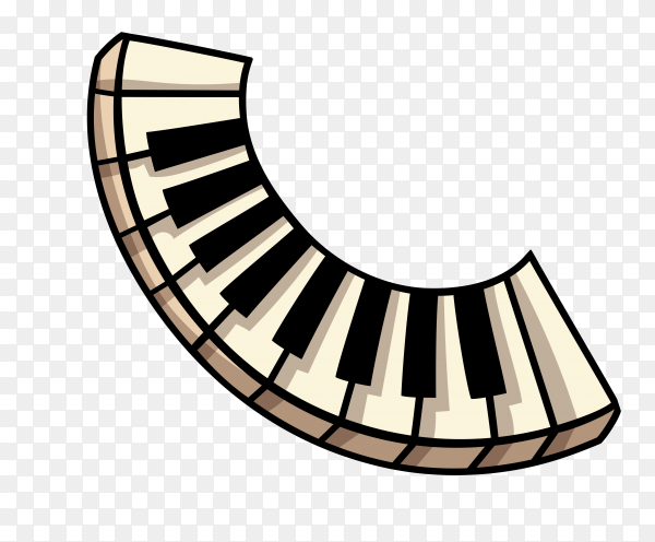 Piano keys Illustration on transparent background PNG