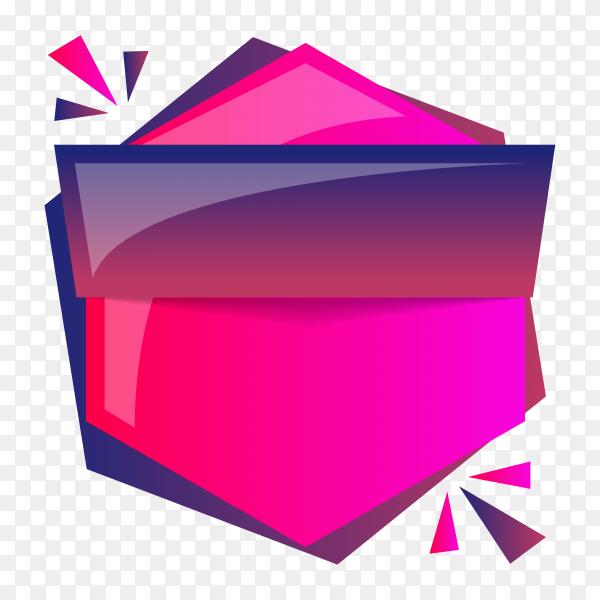 Pink Banner design on transparent PNG