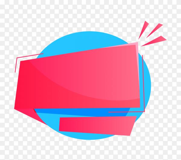 Pink blue color banner design on transparent background PNG