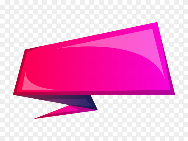 Pink ribbon and banner on transparent background PNG