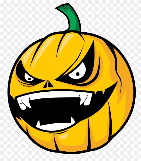 Pumpkin head attack on transparent background PNG