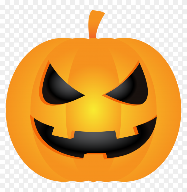 Pumpkin head illustration on transparent background PNG
