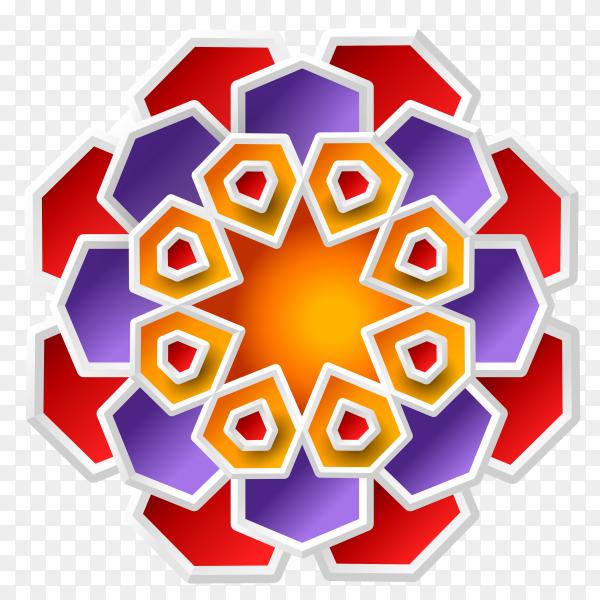 Ramdan kareen  abstract decoration  design on transparent background PNG