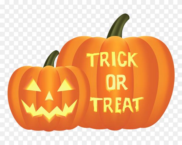 Realistic design halloween pumpkin on transparent background PNG