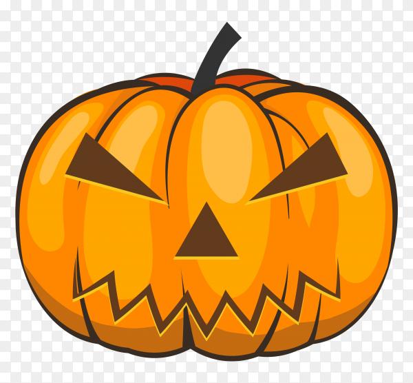 Realistic halloween pumpkin premium vector PNG