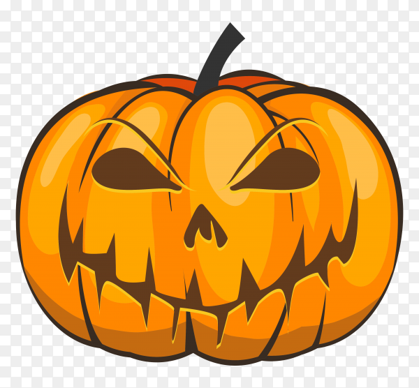 Realistic style halloween pumpkin Clipart PNG