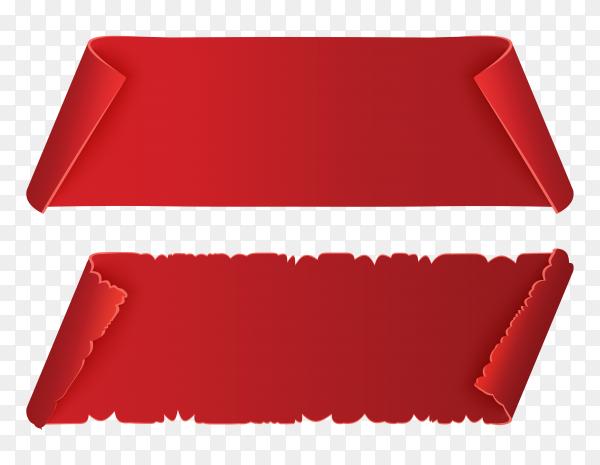 Red banner design premium vector PNG