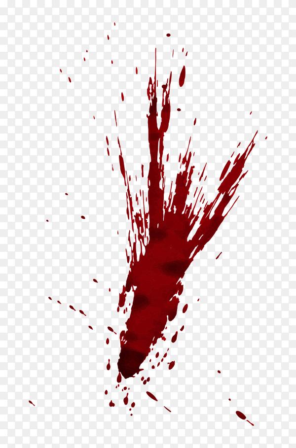 Red blood Illustration on transparent PNG