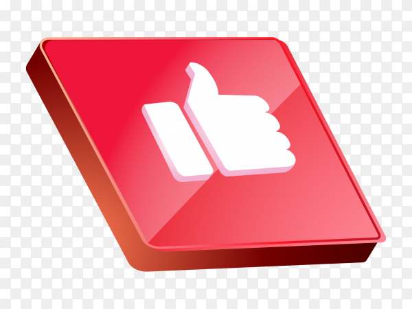Red like icon design on transparent background PNG