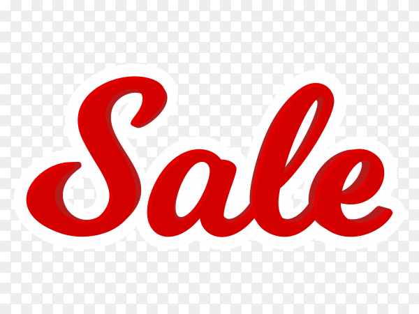 Sale banner template on transparent background PNG