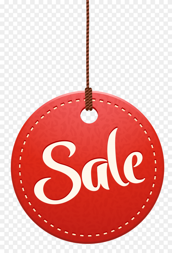 Sale lettering poster design on transparent background PNG