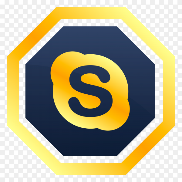 Skype icon design on transparent background PNG
