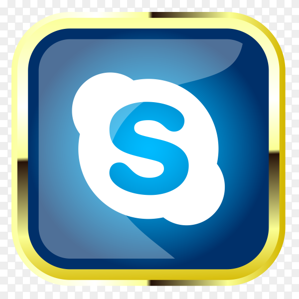 Skype logo design clipart PNG