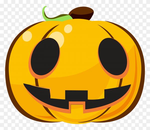 Smilling halloween pumpkin cartoon emoji on transparent PNG