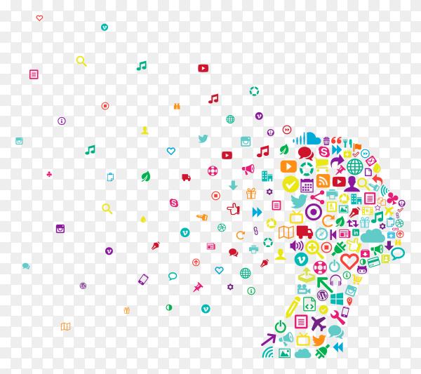 Speacial illustartion for social media apps on transparent background PNG