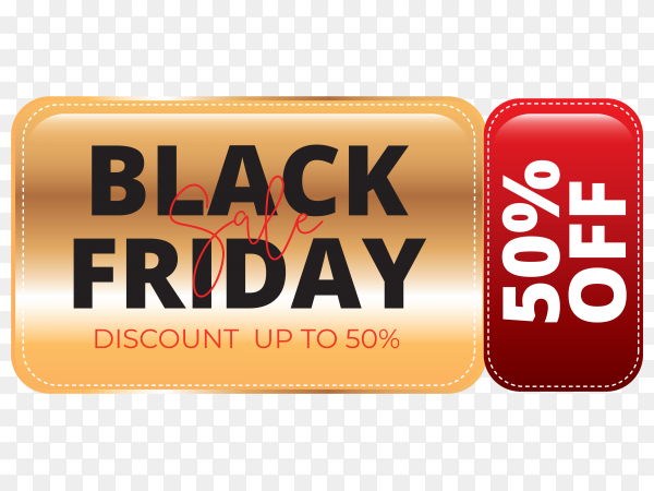 Special sale black friday banner on transparent background PNG