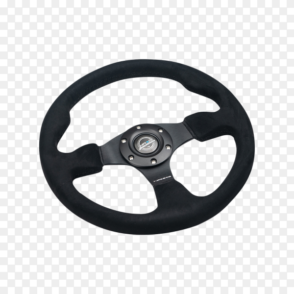 Steering wheel on transparent background PNG