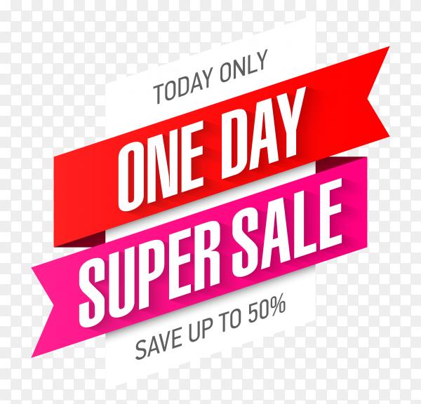 Super sale banner design on transparent background PNG