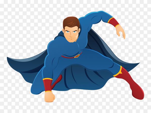 Superhero cartoon design on transparent background PNG