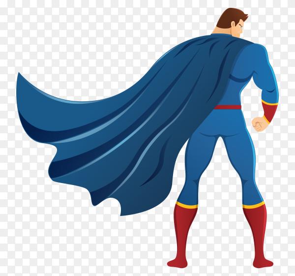 Superhero character premium vector PNG