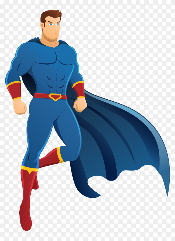 Superhero standing Illustration on transparent background PNG