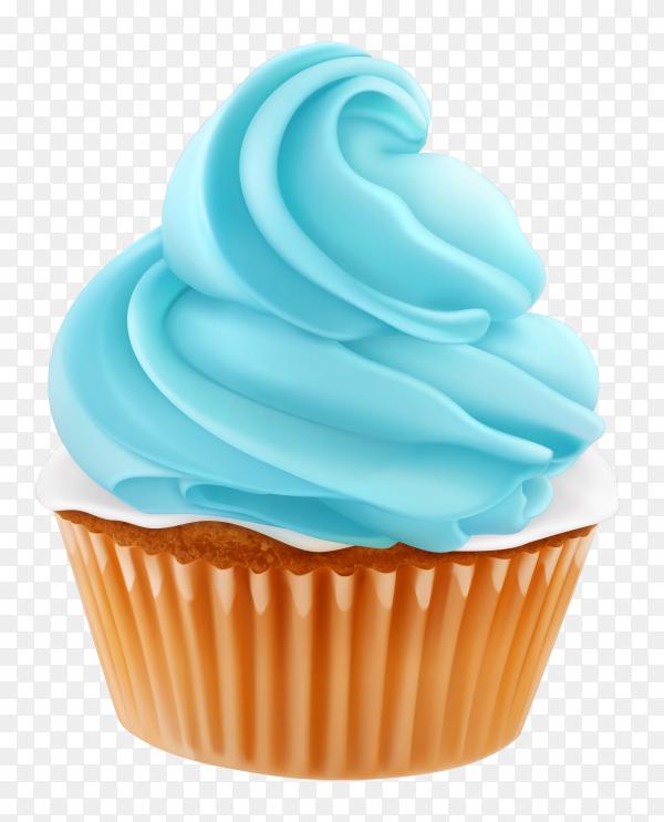 Tasty cupcake on transparent background PNG