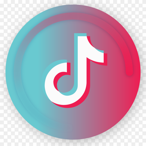 Tiktok icon logo design on transparent background PNG