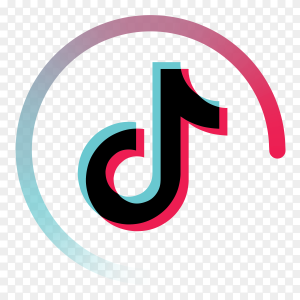 Tiktok icon on transparent background PNG