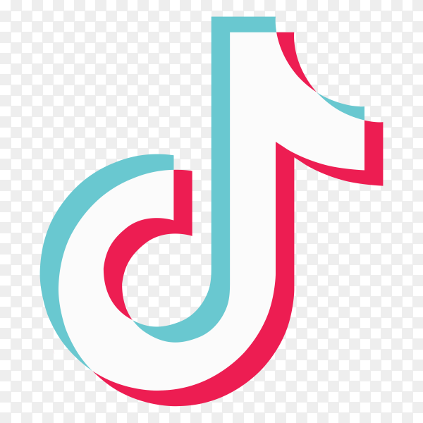Tiktok logo on transparent background PNG