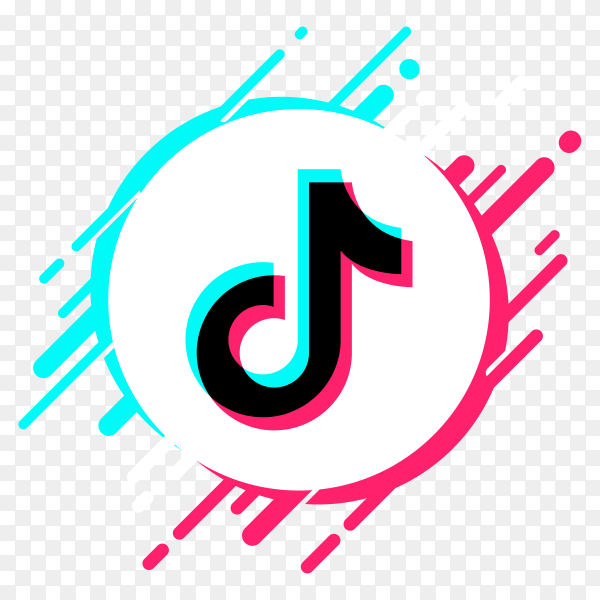 Tiktok social media logo style premium vector PNG